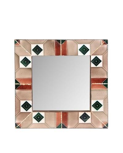 Jamie Young Tile Mirror, Brown Multi, 12 x 12