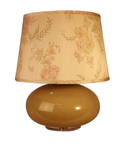 Jamie Young Garbo Glass Table Lamp, Olive Opal