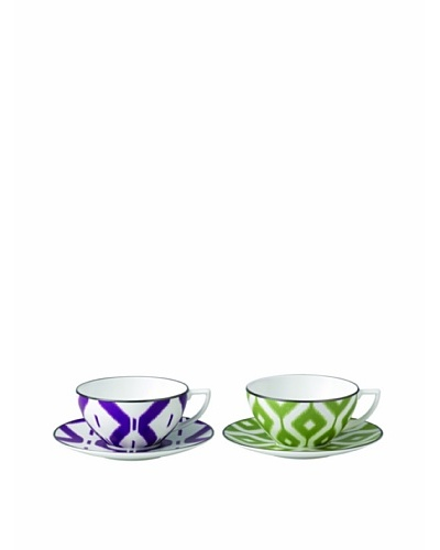 Jasper Conran at Wedgwood Print Cup & Saucer [purple/green]