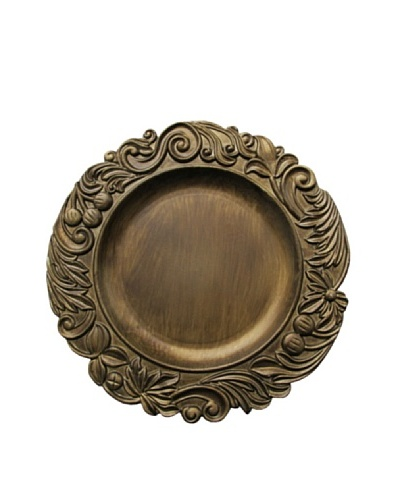 Jay Imports Aristocrat Gold Charger Plate
