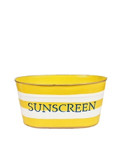 Jayes Horizontal Stripe Yellow Sunscreen Tub