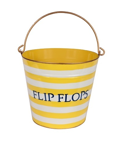 Jayes Horizontal Stripe Yellow Flip Flop Pail