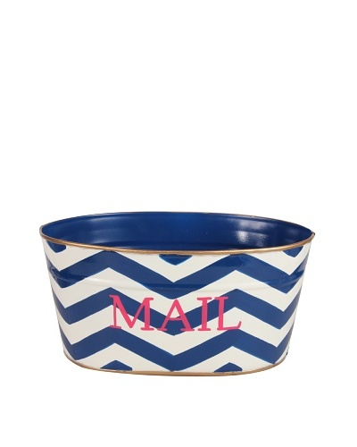 Jayes Chevron Navy Mail Tub