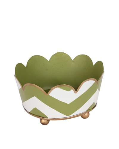 Jayes Chevron Green Coaster