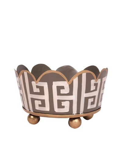 Jayes Greek Key Gray Coaster