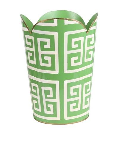 Jayes Greek Key Green Tulip Wastebasket