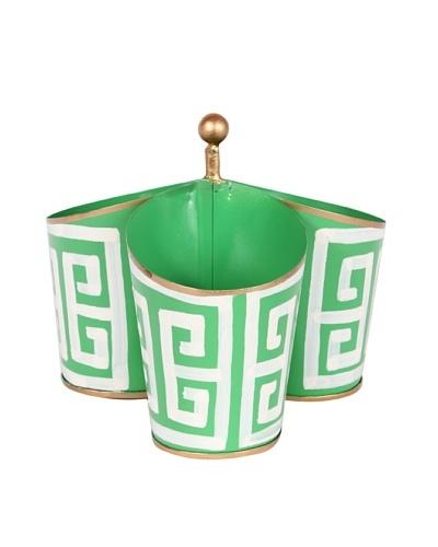 Jayes Greek Key Green Caddy