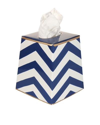 Jayes Chevron Navy Tissue Cover