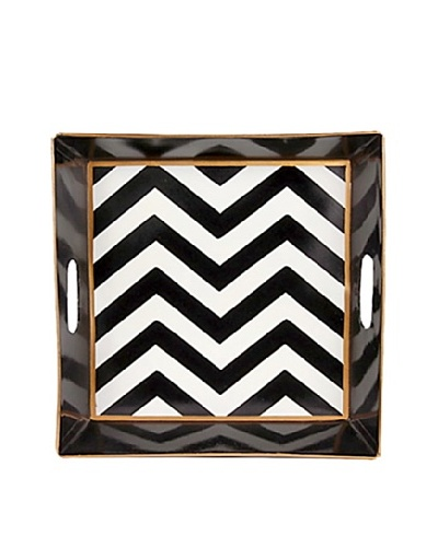 Jayes Chevron Black Bedside Tray