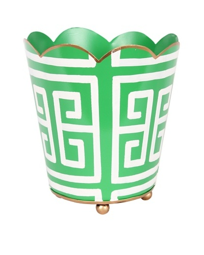 Jayes Greek Key Green Decorative Cachepot
