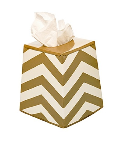 Jayes Chevron Gold Tissue Cover