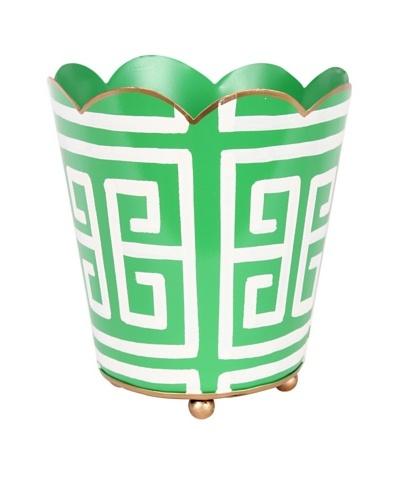 Jayes Greek Key Green Small Decorative Cachepot