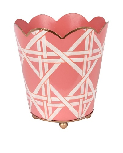 Jayes Cane Pink Decorative Cachepot