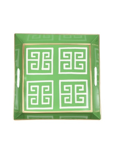 Jayes Greek Key Green Bedside Tray