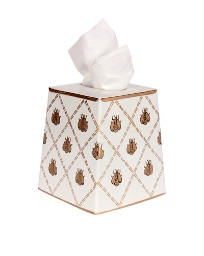 Jayes French Bee Cream & Gold Tissue Cover