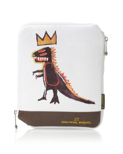 Jean-Michel Basquiat Dragon Sleeve Case for iPad/iPad 2, Brown/White