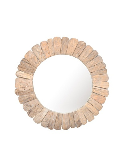 Jeffan Sedona Round Mirror, Natural
