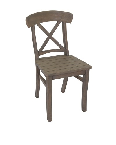Jeffan Luxe Wood Side Chair, Grey