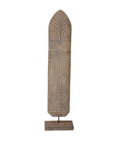 Jeffan Shield Asmat Wood Standing Decoration
