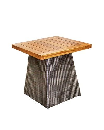 Jeffan Outdoor Pyramid Dining Table, Grey/Natural