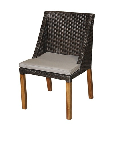 Jeffan Outdoor Swooped Dining Chair, Grey