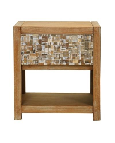 Jeffan Arcadia Bedside Table, White Wash