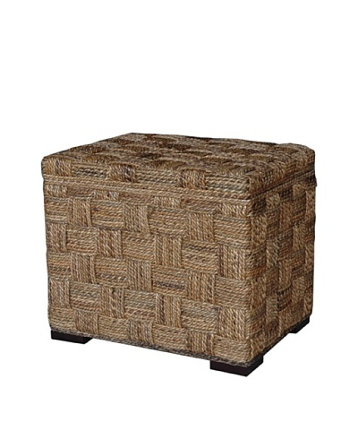 Jeffan Square Weave Storage Ottoman, Natural