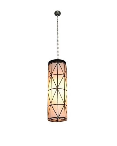 Jeffan International Silva Round Hanging Lamp, White-Black, Large