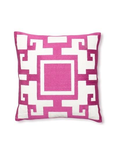 Jennifer Paganelli Kara Linen Pillow, Pink