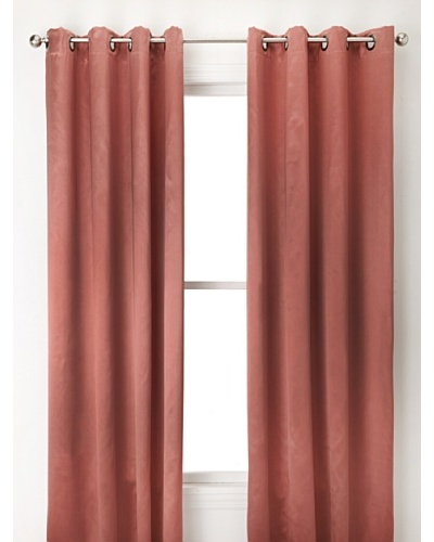 Jennifer Taylor Home Collection Set of 2 Diane Curtain Panels, Rustic Brown