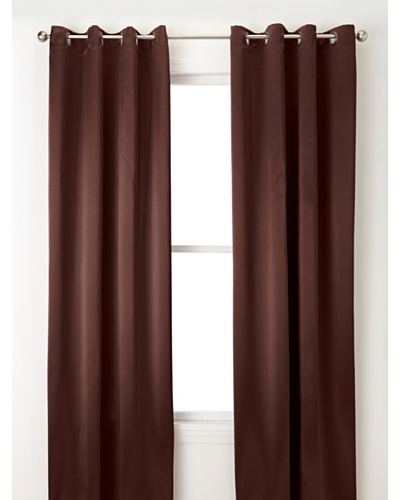 Jennifer Taylor Home Collection Set of 2 Hallie Curtain Panels, Coffee