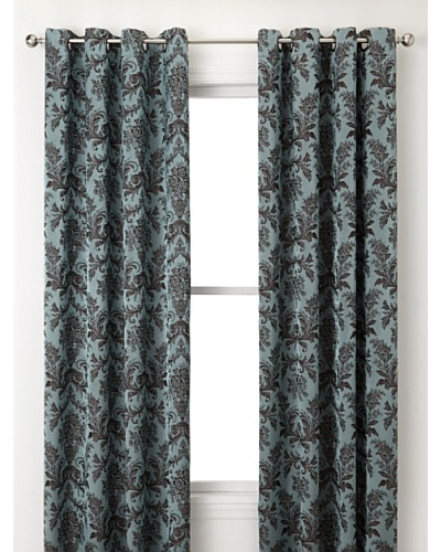 Jennifer Taylor Home Collection Set of 2 Lisa Curtain Panels, Blue/Brown