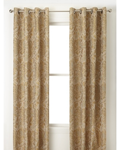 Jennifer Taylor Home Collection Set of 2 Kathleen Curtain Panels, Multi Golden