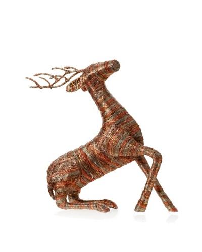 Jim Marvin 18 Stripe Jute Reindeer, Chocolate