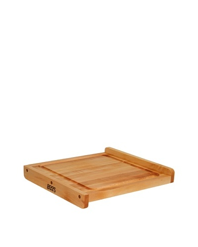 John Boos Reversible Maple Cutting Board with Gravy Groove, 23.75 x 17.25 x 1.25