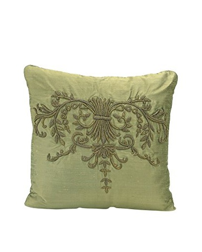 John Richards Collection Olive Silk Square Pillow