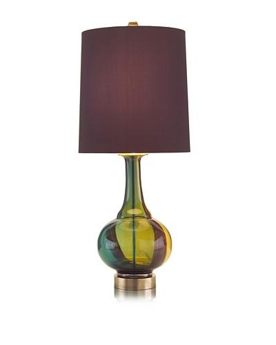 John-Richard Collection Autumn Tri-color Glass Lamp