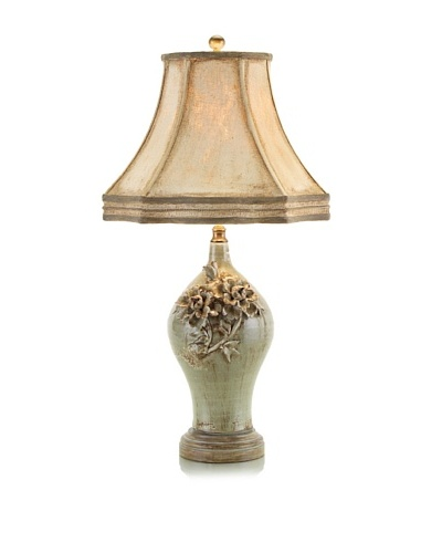 John-Richard Collection Gray - Green Porcelain Lamp