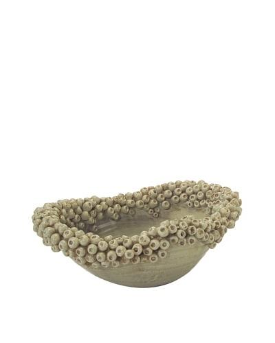 John-Richard Collection Budded Bowl, Green Ice