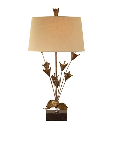 John-Richard Collection Antiqued Copper Tulips Lamp