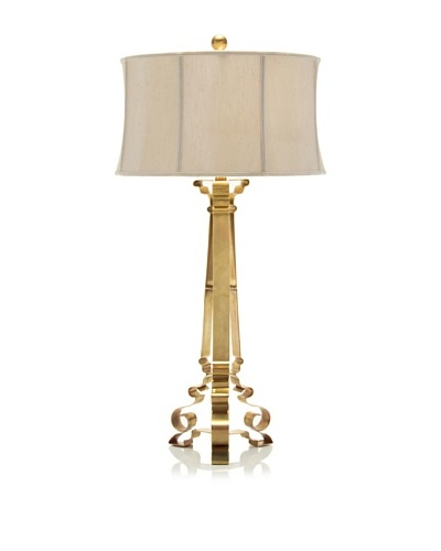 John-Richard Collection Classical Silhouette Brass Lamp