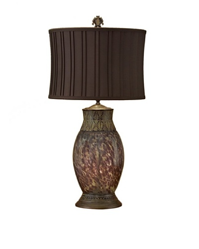 John-Richard Collection Crackle Glass Lamp, Brown/CeladonAs You See