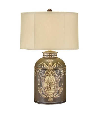 John-Richard Collection Tole Canister Table Lamp