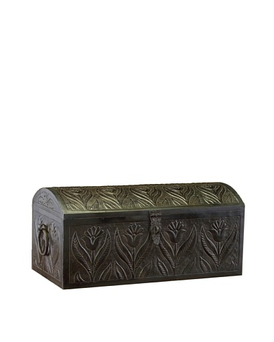 John-Richard Collection Embossed Metal Domed Box