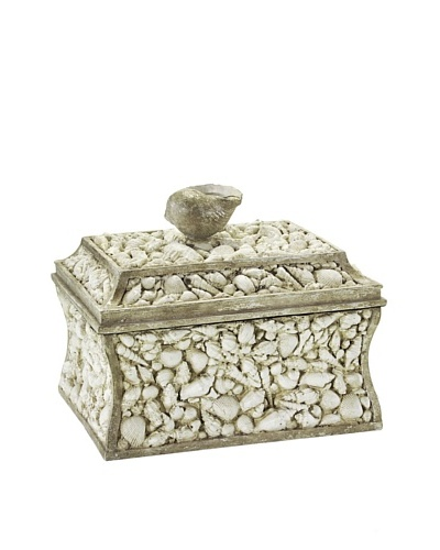 John-Richard Collection Shell-Encrusted Box, SandAs You See