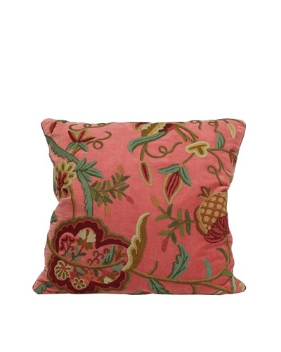 John-Richard Collection Floral Hand-Embroidered 22 x 22 Pillow