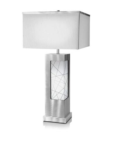 Jon Gilmore String Theory Table Lamp, Silver/White