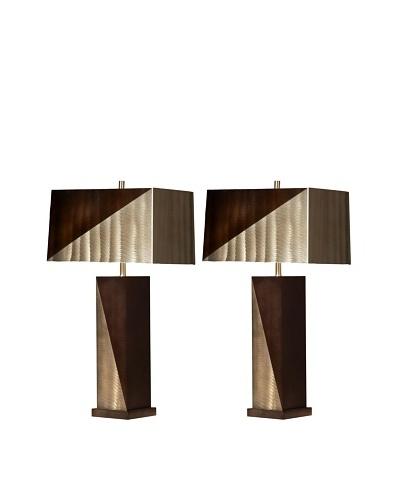 Jon Gilmore Set of 2 Two-Tone Table Lamps