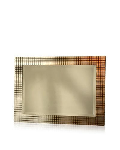 Jon Gilmore Bronze Grid Wall Mirror