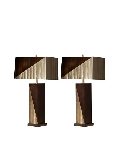 Jon Gilmore Set of 2 Two-Tone Table Lamps [Bronze/Rootbeer]